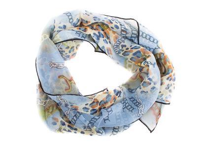 Лучший корпоративный подарок к праздникам шарф крепдишин VENERA (ВЕНЕРА) C270025-blue Venera