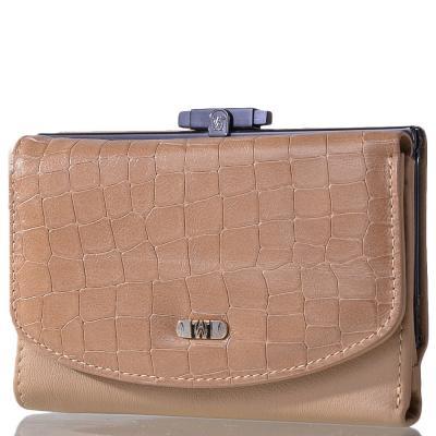 Кожаный женский кошелек WANLIMA (ВАНЛИМА) W21417390473-beige Wanlima
