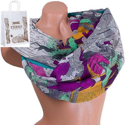 Женский хлопковый шарф 185 на 88 см  ETERNO (ЭТЕРНО) ES0908-1-1 Eterno