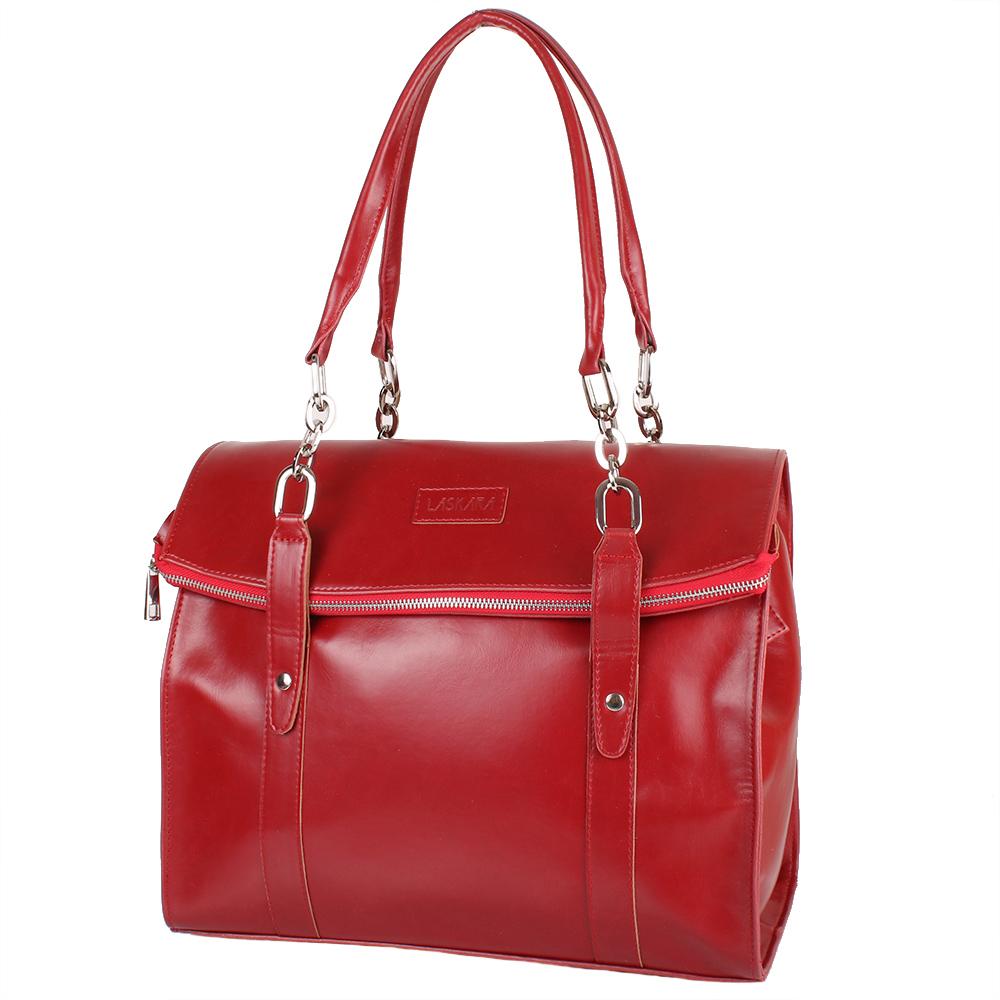 0baf9d4f3753 Женская повседневно-дорожная сумка из качественного кожезаменителя LASKARA  (ЛАСКАРА)