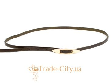 Ремень узкий женский кожаный ETERNO (ЭТЕРНО) A2005-9-green Eterno