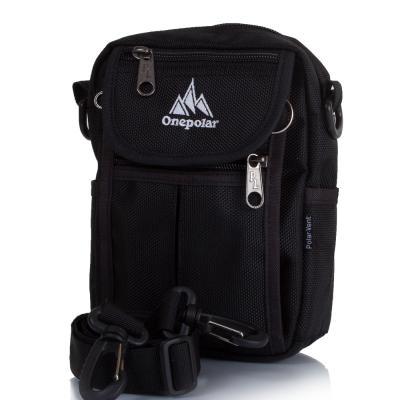 Мужская спортивная сумка ONEPOLAR (ВАНПОЛАР) W4177-black Onepolar