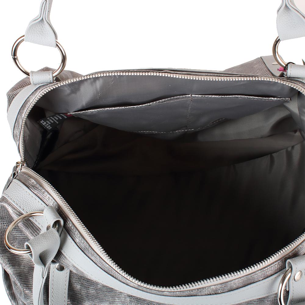 e8da4cb228a4 Женская повседневно-дорожная сумка из качественного кожезаменителя LASKARA  (ЛАСКАРА) LK-10251-silver-snake. 12345678