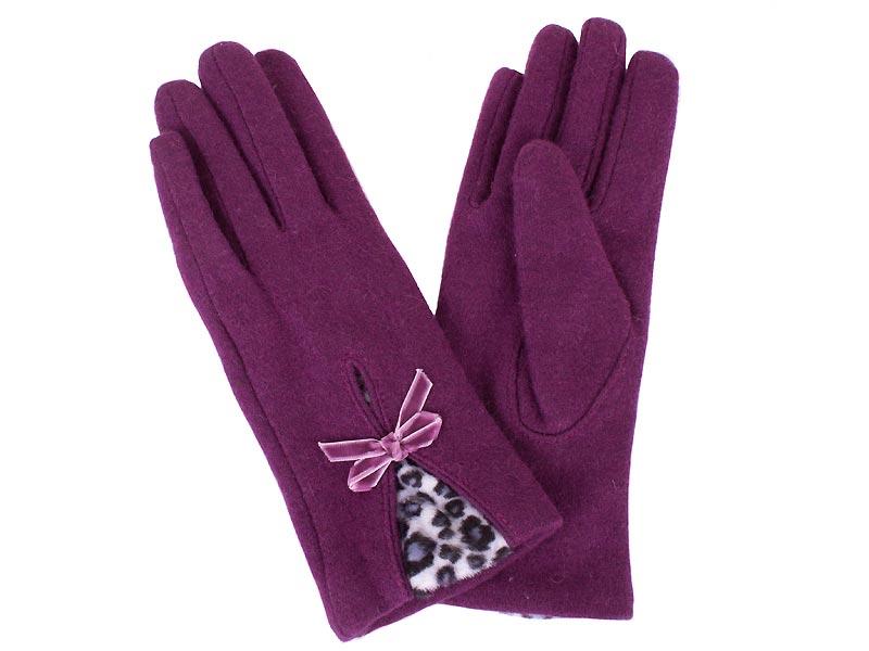 Перчатки женские шерстяные  ETERNO (ЭТЕРНО) E2539-violet Eterno