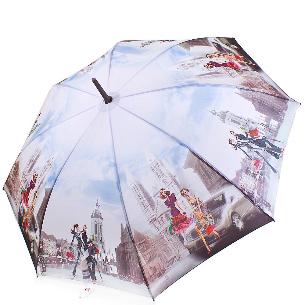 Зонт-трость женский полуавтомат ZEST (ЗЕСТ) Z21625-9 Zest