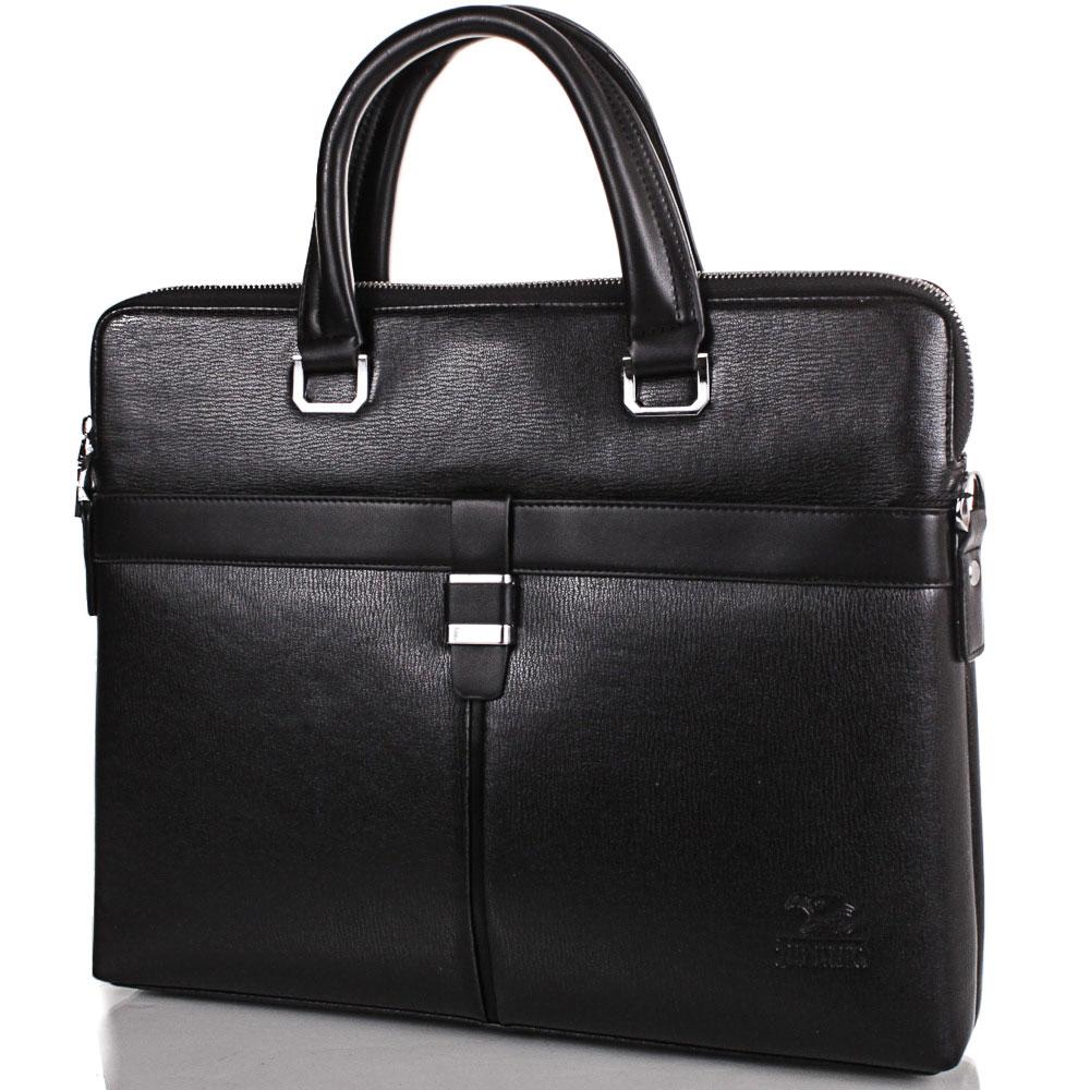 Мужская сумка из качественного кожезаменителя с карманом для ноутбука 13,3