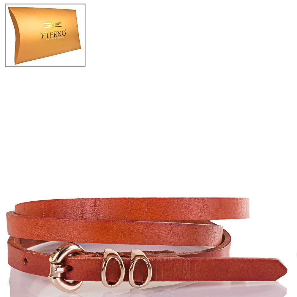 Женский узкий кожаный ремень ETERNO (ЭТЕРНО) ETS8024-12 Eterno