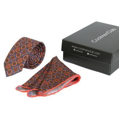 coolmenclub Комплект подарочный шелковый для мужчин CoolMenClub (КУЛ МЭН КЛАБ) SK5002