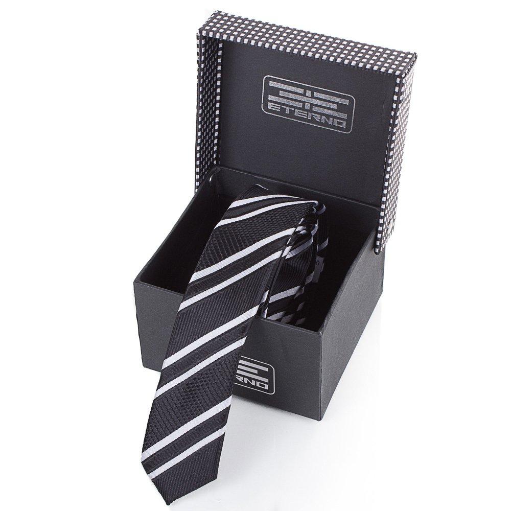 Мужской узкий шелковый галстук ETERNO (ЭТЕРНО) EG651 Eterno
