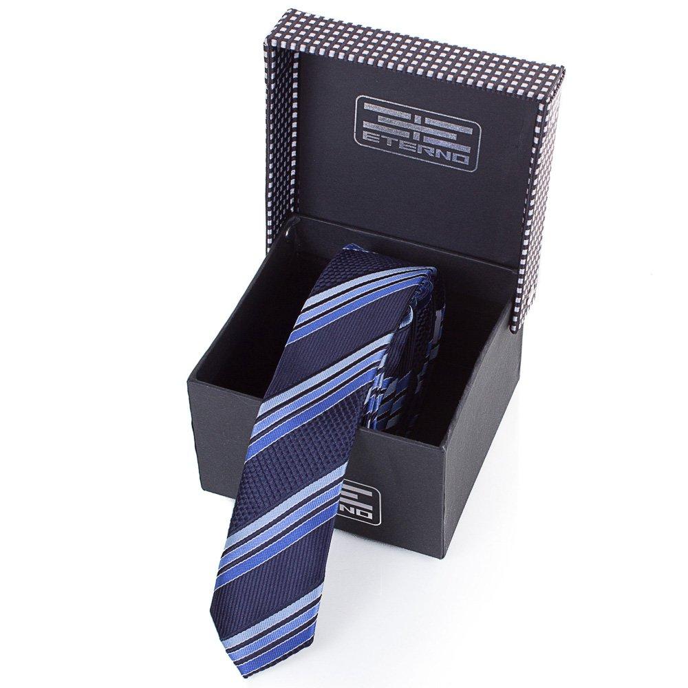 Мужской узкий шелковый галстук ETERNO (ЭТЕРНО) EG656 Eterno