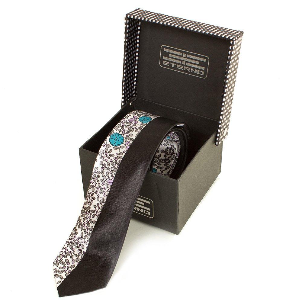eterno Мужской узкий шелковый галстук ETERNO (ЭТЕРНО) EG619