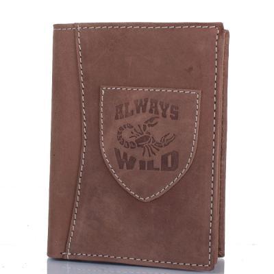 Кошелек мужской кожаный ALWAYS WILD (ОЛВЕЙС ВАЙЛД) DNKN4-SCH-brown Always Wild
