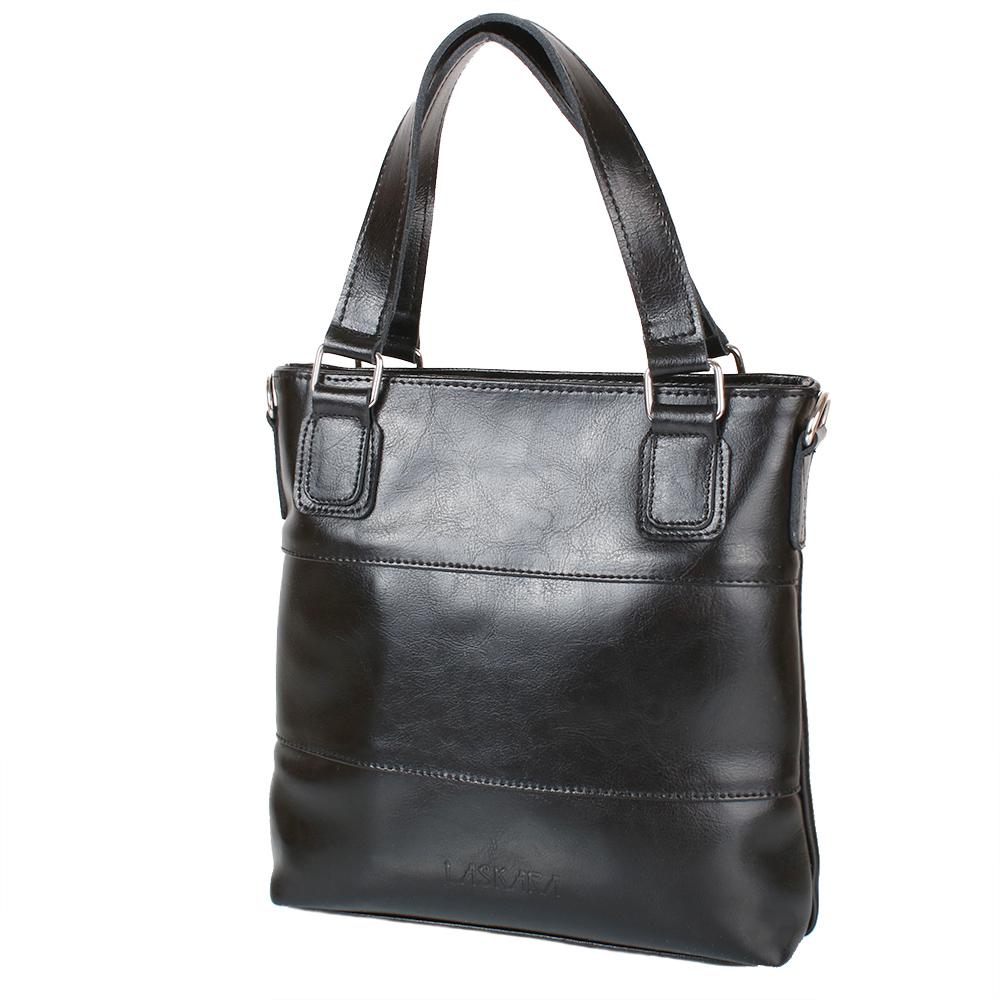 e93cd1e7add3 Женская кожаная сумка LASKARA (ЛАСКАРА) LK-DD215-black купить в ...