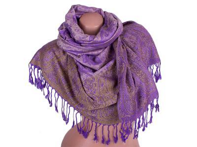 Женский двусторонний палантин из пашмины 175 на 70 см ETERNO (ЭТЕРНО) ES0206-2-violet-beige-Y Eterno