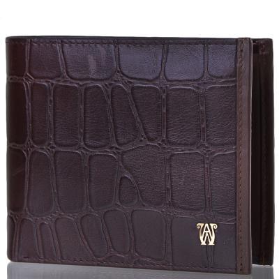 Мужской кожаный кошелек WANLIMA (ВАНЛИМА) W31521841992-coffee Wanlima