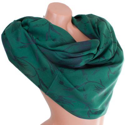 Женский двусторонний шелковый шарф 190 на 67 см AHUSE SAT17283