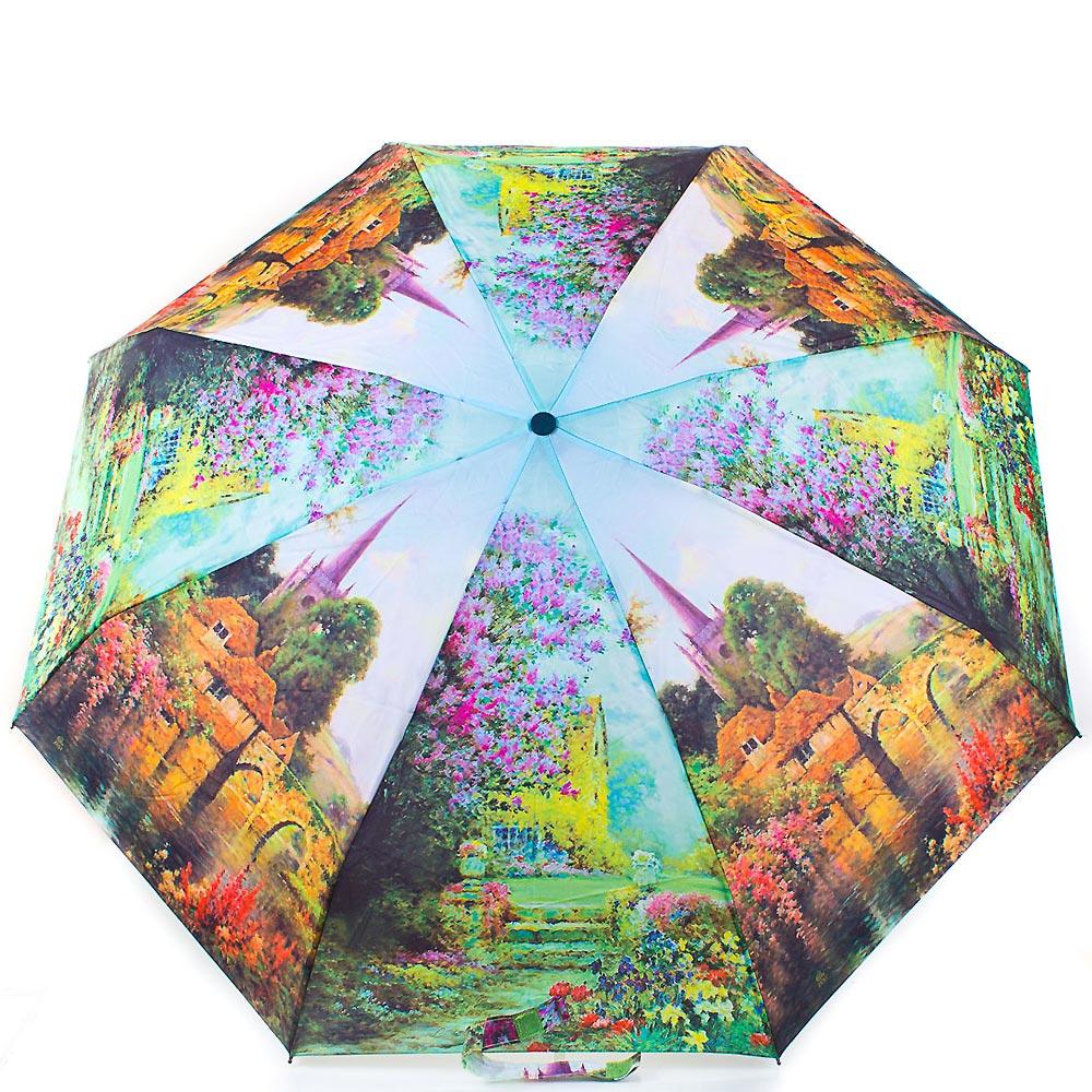 Зонт женский компактный полуавтомат ZEST (ЗЕСТ) Z24665-3 Zest
