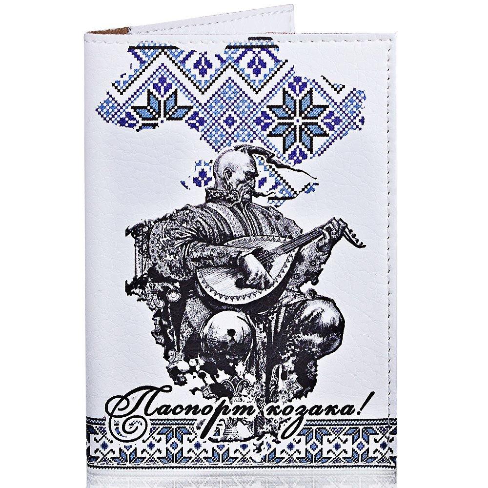 Мужская обложка для паспорта PASSPORTY (ПАСПОРТУ) KRIV002 Passporty