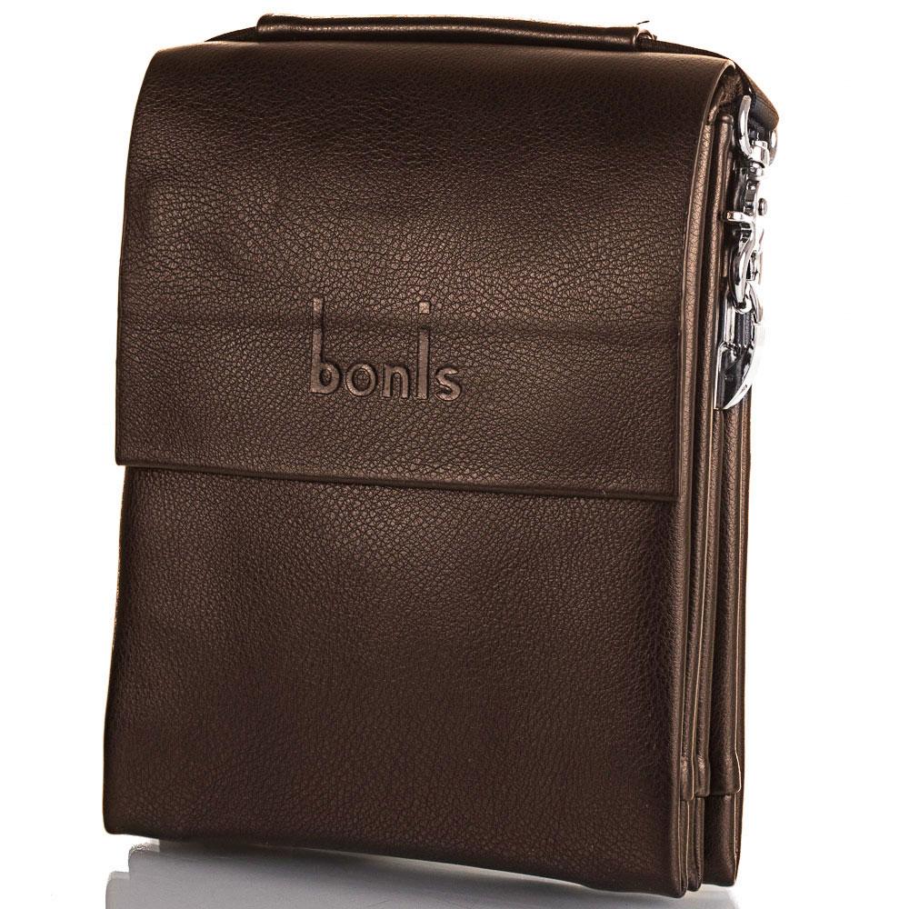 Борсетка мужская из качественного кожезаменителя BONIS (БОНИС) SHIS8607-brown Bonis