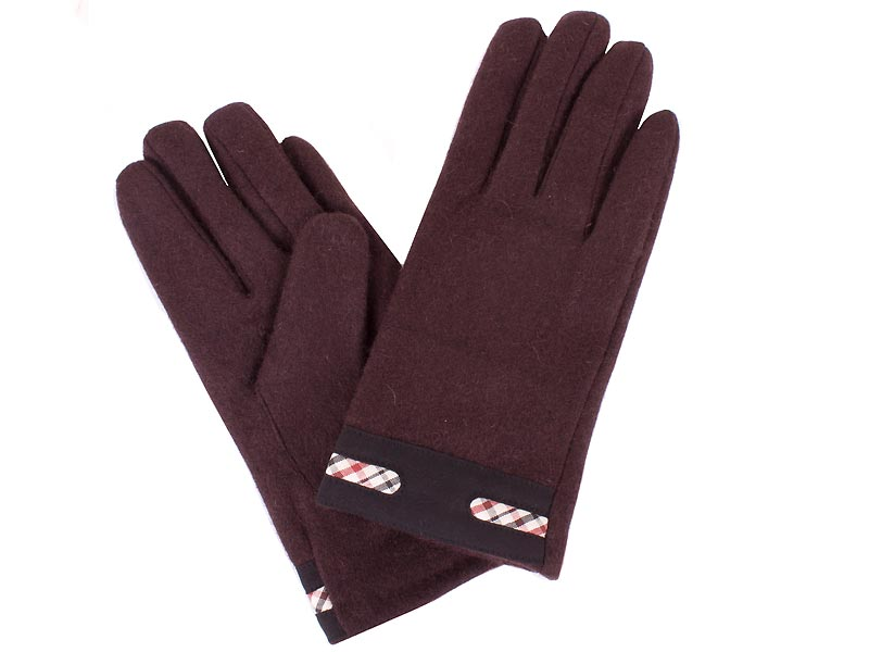 Перчатки женские шерстяные  ETERNO (ЭТЕРНО) E2530-brown Eterno
