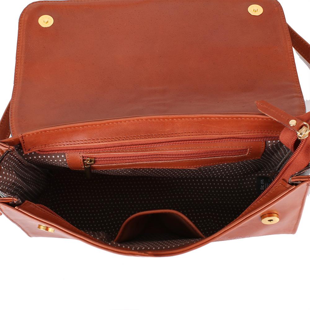 9007c390a8a7 Женская кожаная сумка-клатч LASKARA (ЛАСКАРА) LK-DD220B-cognac-bronze.  12345678910